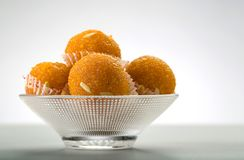 Laddu or laddoo or motichoor laddu stock images