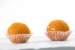 Laddu or laddoo or motichoor laddu royalty free stock photo