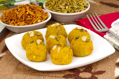 Laddu and Namkeen Stock Photography