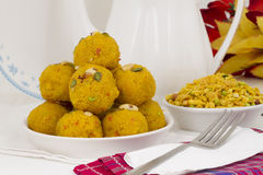 Laddu and Namkeen Royalty Free Stock Image