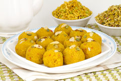 Laddu and Namkeen Royalty Free Stock Photography