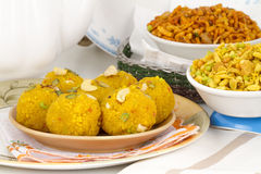 Laddu and Namkeen Stock Photo