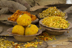 Laddu and Namkeen Stock Photos