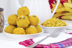 Laddu and Namkeen Royalty Free Stock Photo