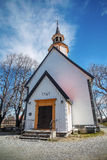Lade church, Trondheim, Norway. Old wooden Lade church located in Trondheim Royalty Free Stock Photos