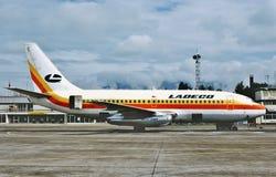 Ladeco Boeing B-737 po lota od Meksyk w 1983 obrazy stock