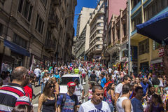 Ladeira Porto Geral (25 de Março street region)  Stock Image