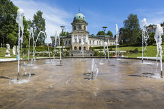 LADEK ZDROJ, ΠΟΛΩΝΊΑ - JUNI 05, 2017: Το Ladek Zdroj είναι μια πόλη σε Kl Στοκ Φωτογραφίες