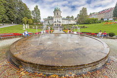 Ladek Zdroj, one of the oldest health resorts in Europe,. Ladek Zdroj, Poland - September 20, 2014: Ladek Zdroj is one of the oldest health resorts in Europe stock images