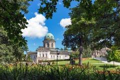LADEK ZDROJ, POLEN - AUGUSTI 17, 2017: Sanatoriet Wojciech I Fotografering för Bildbyråer