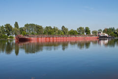Laden barge Royalty Free Stock Image