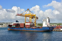 Laden CFS- Pacora in Barbados Stockfoto