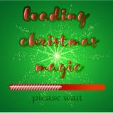 Laden der frohen Weihnachten Stockbild