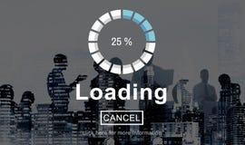Laden-Fortschritts-Indikatorschnittstellen-Konzept lizenzfreie stockbilder