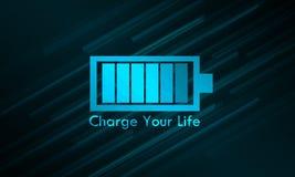 Laden Sie Ihr Leben-Glühen auf lizenzfreie abbildung