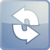 Laden Sie Navigationsikone neu Lizenzfreie Stockbilder