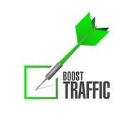 laden Sie Verkehrspfeilhäkchen-Illustrationsdesign auf Stockfotografie