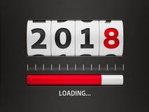 Ladende Nieuwe jaar 2018 teller Stock Foto's