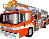 Lader del coche de bomberos Fotografía de archivo libre de regalías