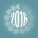 Lader des neuen Jahres von den Schneeflocken Lizenzfreie Stockfotografie
