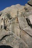 Ladera de la roca con la escalera Foto de archivo libre de regalías