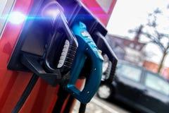 Ladestation des elektrischen Autos Stockfotografie