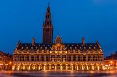 Ladeuzeplein Leuven Universiteitsbibliotheek Royalty-vrije Stock Fotografie