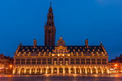 Ladeuzeplein Leuven Universiteitsbibliotheek Royalty Free Stock Photography