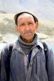 Ladhaki old man stock photo