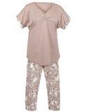 Ladie有花卉图案的` s睡衣 免版税库存照片