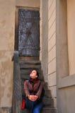 Ladie en Praga vieja Praga Imagenes de archivo