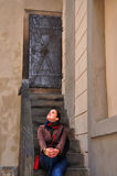 Ladie in old Prague Praha. Ladie in old center of Praha Stock Images