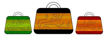 Ladies bag. 3 womens bag Royalty Free Stock Images