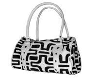 Ladies bag. Black and white ladies bag Royalty Free Stock Image