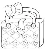 Ladies' bag coloring page. Useful as coloring book for kids Royalty Free Stock Photos