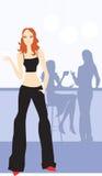 Ladies in bar stock illustration