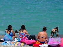 Ladies at the Beach Stock Photos