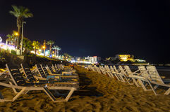 Ladies beach by night. Kusadasi. Turkey Stock Image