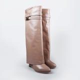 Ladies beige boots Royalty Free Stock Photo