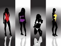 Ladies bikini. Illustration of ladies in bikini Stock Photos