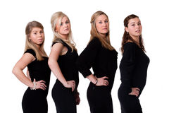 Ladies in black royalty free stock photos