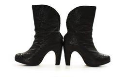 Ladies black boots Stock Photos