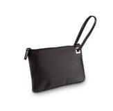 Ladies black  purse isolated on white Stock Image