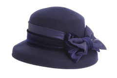 Ladies blue hat Royalty Free Stock Photo