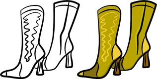 Ladies boots Royalty Free Stock Image
