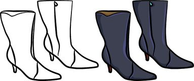 Ladies boots Stock Images