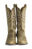 Ladies Brown Western Cowboy Boots Royalty Free Stock Photo