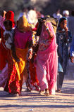 Ladies  at Camel fair, Jaisalmer, India Royalty Free Stock Images