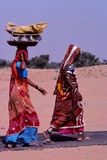 Ladies  carrying baskets, Jaisalmer, India Royalty Free Stock Photography