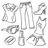 Ladies Clothing and Accessories Stock Images